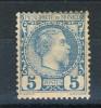 Monaco 1885 Principe Charles III Y&T N. 3 C. 5 Azzurro MH - Neufs