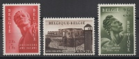 Belgique - YT N° 943 à 945 - Neufs * - MH - Cote: 62,50 € - Nuovi
