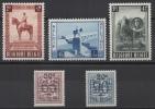 Belgique - YT N° 938 à 942 - Neufs * - MH - Cote: 36,50 € - Nuovi