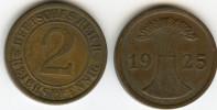 Allemagne Germany 2 Reichspfennig 1925 A J 314 KM 38 - 2 Rentenpfennig & 2 Reichspfennig