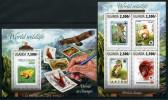 2013 Uganda Fauna Animals Stamps On Stamp WWF SS + Mini Sheet MNH - W.W.F.