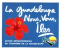 AUTOCOLLANT STICKER Office Départemental Du Tourisme De La Guadeloupe - Aufkleber