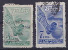 URUGUAY - 1951-   SCOTT  Nrs. 584 En/et 585 - (L1) Gebruikt/oblit./usato/used - ° - Uruguay