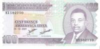 Burundi - Pick 37f - 100 Francs 2007 - Unc - Burundi