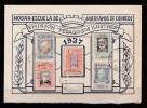 ESPAGNE CARTE POSTALE DE 1937 EMISSION PROFESSEURS CÉLÈBRES PLI SUR LA DROITE - 1931-50 Storia Postale