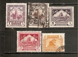 Irak  Nº Yvert  124-25, 127-28, 130 (usado) (o) - Irak