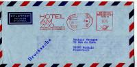 EMA Animaux,ZOO,voyage,tourisme,Hotel Am ZOO,Berlin Allemagne Sur Lettre Par Avion 20.7.1984 - Postzegels