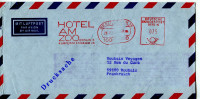 EMA Animaux,ZOO,voyage,tourisme,Hotel Am ZOO,Berlin Allemagne Sur Lettre Par Avion 20.7.1984 - Briefmarken