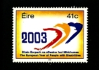 IRELAND/EIRE - 2003  YEAR OF PEOPLE WITH DISABILITIES   MINT NH - 1949-... Repubblica D'Irlanda