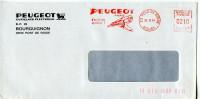 EMA Perceuse,outil De Qualité Peugeot,Bourguignon,25 Pont De Roide,Doubs,lettre 26.12.1984 Pont De Roide - Factories & Industries