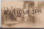 CARTE PHOTO MILITAIRES ET PRISIONNIERS  FRANCAIS    + CACHET  CAMP OHRDRUF - Guerre 1914-18