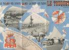 Dépliant Publicité. Le Touquet. Avec Photos. Avion Cargo. Golf. Casino. Hippisme. Piscine. Voiliers..... - Dépliants Touristiques