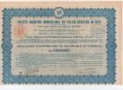 NICE- S.A Immobilière Du Palais Vénitien De Nice  - Obligation De 500 Frs   1928  ( N° 010.993 ) Bon état - Actions & Titres