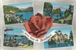 SUISSE - SCHWEIZ - SVIZZERA - SWITZERLAND - VAUD - MONTREUX  - Une Rose - CPSM GF Couleur Multivues - VD Waadt