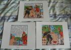 LOT DE 3 EX-LIBRIS TINTIN ~ HERGE MOULINSART 2011 / LE SCEPTRE D´ OTTOKAR - Ex-libris