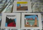 LOT DE 3 EX-LIBRIS TINTIN ~ HERGE MOULINSART 2011 / TINTIN EN AMERIQUE - Ex-libris