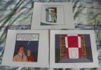 LOT DE 3 EX-LIBRIS TINTIN ~ HERGE MOULINSART 2010 /  OBJECTIF LUNE - Ex-libris