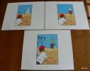 LOT DE 3 EX-LIBRIS TINTIN ~ HERGE MOULINSART 2011 / LE CRABE AUX PINCES D´ OR - Ex-libris