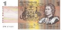 Australia - Pick 42d - 1 Dollar 1983 - Unc - Emissions Gouvernementales Décimales 1966-...