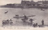 """SAINT - MALO. -   Hydroaéroplane """" REP """"  ( Pilote Molla ), Au  Départ ( Bassin Vauban à St  Malo ). L.L. - Saint Malo"""