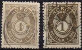 NORVEGE - Cor Sans Ombre De 1894/1907 - 1 O. Gris-olive Clair Et Très Foncé - Norvège