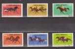 1974 - Centenaire Des Courses De Chevaux Mi No 3182/3187 Et Yv No 2828/2833 - Usado