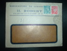 LETTRE TP PETAIN 1F + MERCURE 50c OBL. TIRETEE 31-10-44 VILLEDIEU LA BLOUERE (49 MAINE ET LOIRE) H. ROBERT - Postmark Collection (Covers)