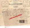49 -SAUMUR -FACTURE LOUIS GOUBARD - BOIS CHARBONS DE BOIS-COKE- 50 RUE SAINT NICOLAS-1897 - France