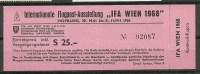ÖSTERREICH Austria 1968 Philaausstellung Eintrittskarte Ticket - Eintrittskarten