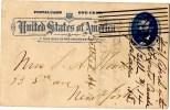 Entier_Stationnary From Philadelphia To New York (April. 1892) - Briefe U. Dokumente
