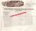 64 - BAYONNE - FACTURE ETS. OLIBERA - CADILLON - DUCLERC & SOULES- MANUFACTURE ESPADRILLES LA BAYONNAISE-1930 - France