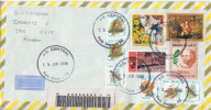 Postal History Cover: Brazil Birds, Japan Joint Issue, Painting Stamps On Cover - Argentina