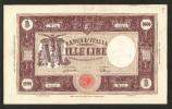 [CC] ITALIA - 1000 Lire Grande M ( BANCA D´ITALIA ) - (Decr. 12/07/1946 - Firme: Einaudi / Urbini) - RARO - [ 2] 1946-… : Repubblica