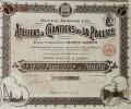 1 ACTION   -  ATELIERS & CHANTIERS DE LA PALISSE - PART DE FONDATEUR AU PORTEUR   - 1921 - Navigation