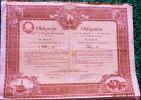 1 ACTION - OBLIGATION  Du 4 éme EMPRUNT De CONVERSION DE LA VILLE DE VARSOVIE 66 ZLOTYS CINQUANTE  1931 - Navigation