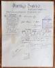 ALESSANDRIA 1903 LETTI IN FERRO MOBILI IN LEGNO CUCINE PETRO SAVIO  - ANTICA LETTERA PUBBLICITARIA CON FIRMA AUTOGRAFA - Italia