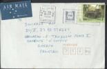 Australia Christmas Island Airmail 1994 Steam Locomotive 95c Commercial Airmail, Bank SA Sent To Pakistan. - Christmas Island
