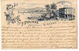06  CANNES  F PASCHKE  HORTICULTEUR  1896  CARTE PRECURSEUR - Cannes