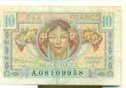 Trésor Français. Territoires Occupés. Dix Francs. - Treasury