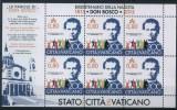 2015 Vaticano, Bicentenario Nascita Don Bosco Minifoglio , Serie Completa Nuova (**) - Blocks & Sheetlets & Panes