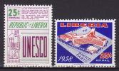 LIBERIA 1958. UNESCO, MNH (**):LUX - Liberia
