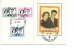 """Baudouin Et Fabiola - Verviers 1960 - La Photo De Droite Est En Soie """"RARE"""" - 1951-60"""
