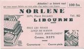 BUVARD - NORLENE  Tissus D'ameublement LIBOURNE - TTB - Textile & Vestimentaire
