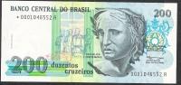 BRAZIL P229 200 CRUZEIROS Signature 28 1990  REPLACEMENT *0001 UNC. - Brazilië