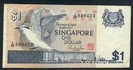 SINGAPORE  P9 1  DOLLAR 1976     F-VF  1 P.h. - Singapore
