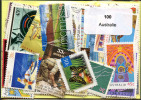 Lot 100 Timbres Australie - Vrac (max 999 Timbres)