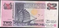 SINGAPORE  P28 2  DOLLARS 1992    VF  NO P.h. - Singapour