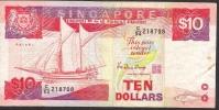 SINGAPORE  P20 10  DOLLARS 1988    VF  NO  P.h. - Singapour