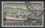 GREECE 1958 Air. Greek Ports - 15d Salonika  FU - Airmail