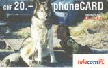 LIECHTENSTEIN - Dog, Telecom FL Prepaid Card CHF 20, Exp.date 06/05, Used - Liechtenstein